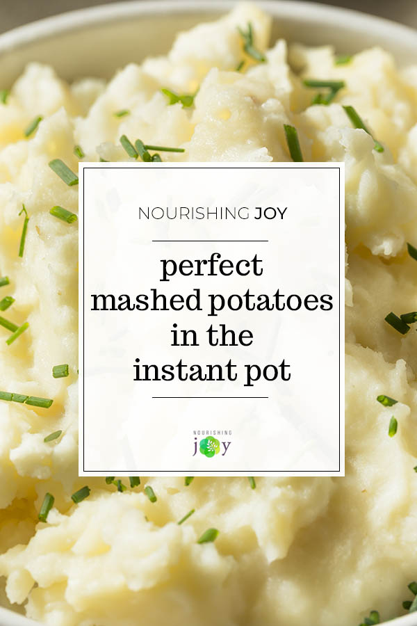 Make perfect mashed potatoes easily by using the Instant Pot!