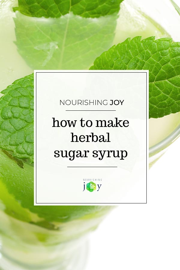 How to make herbal sugar syrup