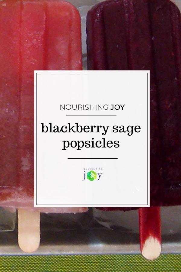Blackberry Sage Popsicles