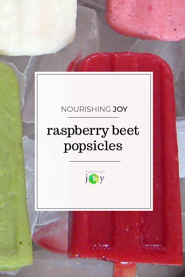Red Raspberry and Beet Popsicles