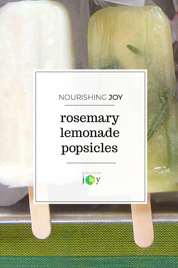 Rosemary Lemonade Popsicles